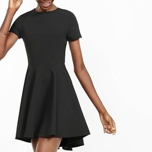 EXPRESS black fit and flare dress